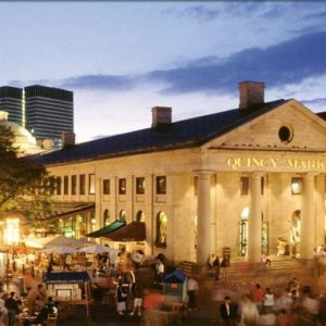 Boston's Faneuil Hall by Night