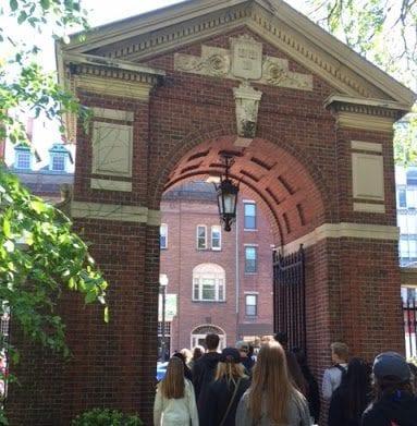 Harvard Yard Gate Boston MA USA